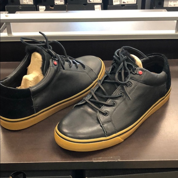 187e1b76b75 ❤️New Ugg Men's Brock Black leather sneakers sz 11 NWT